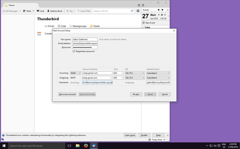 Mozilla Thunderbird Configuration Wizard